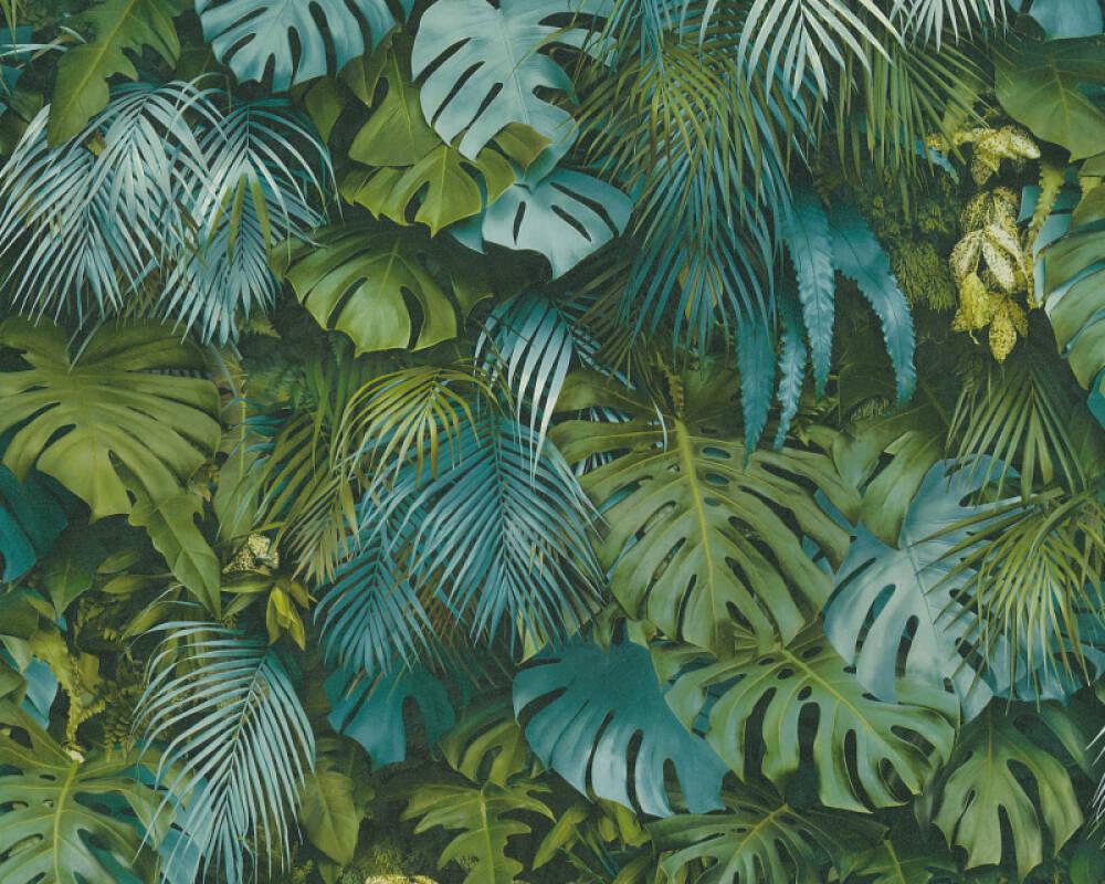 A.S. Création Обои Джунгли, Зеленые, Синие 372803