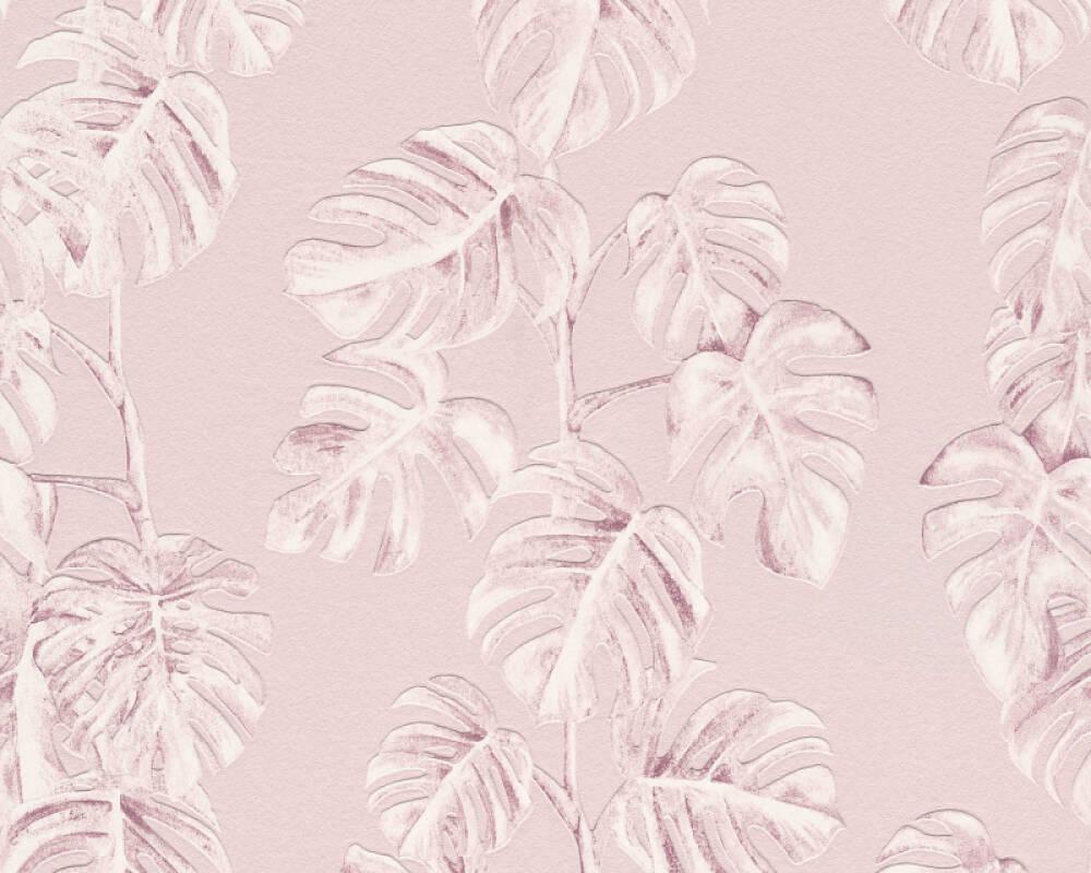 A.S. Création papier peint Jungle, blanc, rose 372811