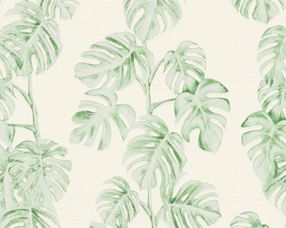 A.S. Création papier peint Jungle, blanc, vert 372813