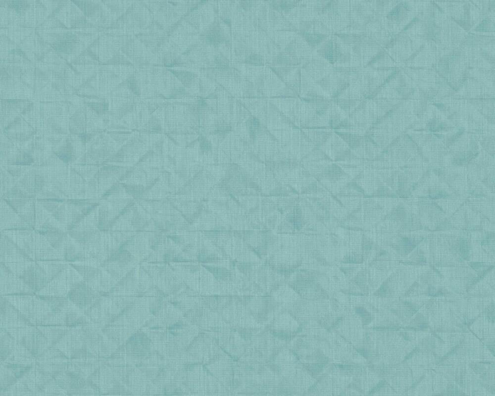 A.S. Création papier peint Uni, bleu, turquoise, vert 372847