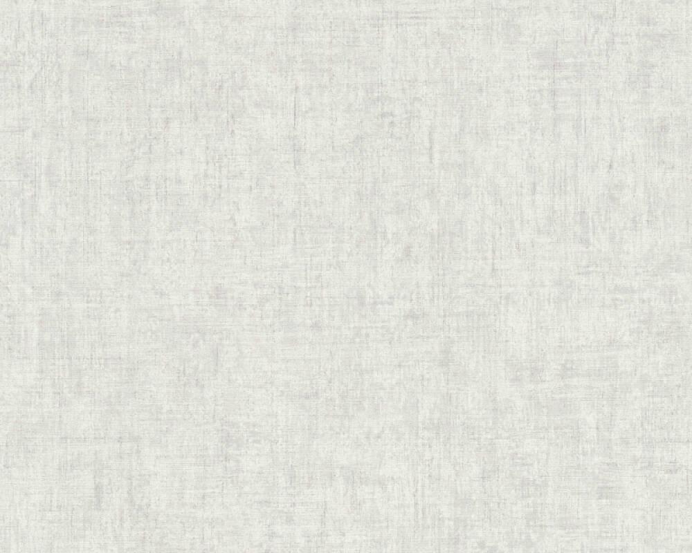 A.S. Création Tapete Uni, Grau, Weiß 373341