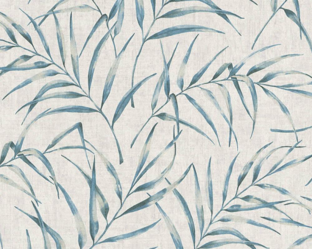 A.S. Création Wallpaper Floral, Blue, Grey 373351