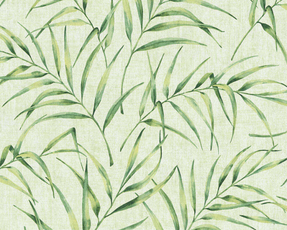 A.S. Création Wallpaper Floral, Green 373353