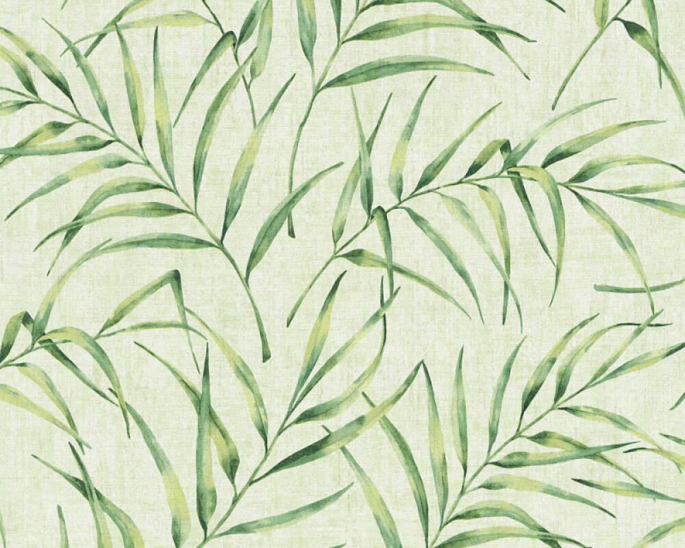 A.S. Création papier peint Floral, vert 373353
