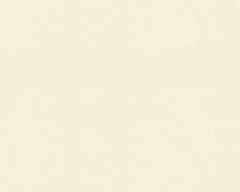 A.S. Création papier peint Uni, blanc, crème 373393