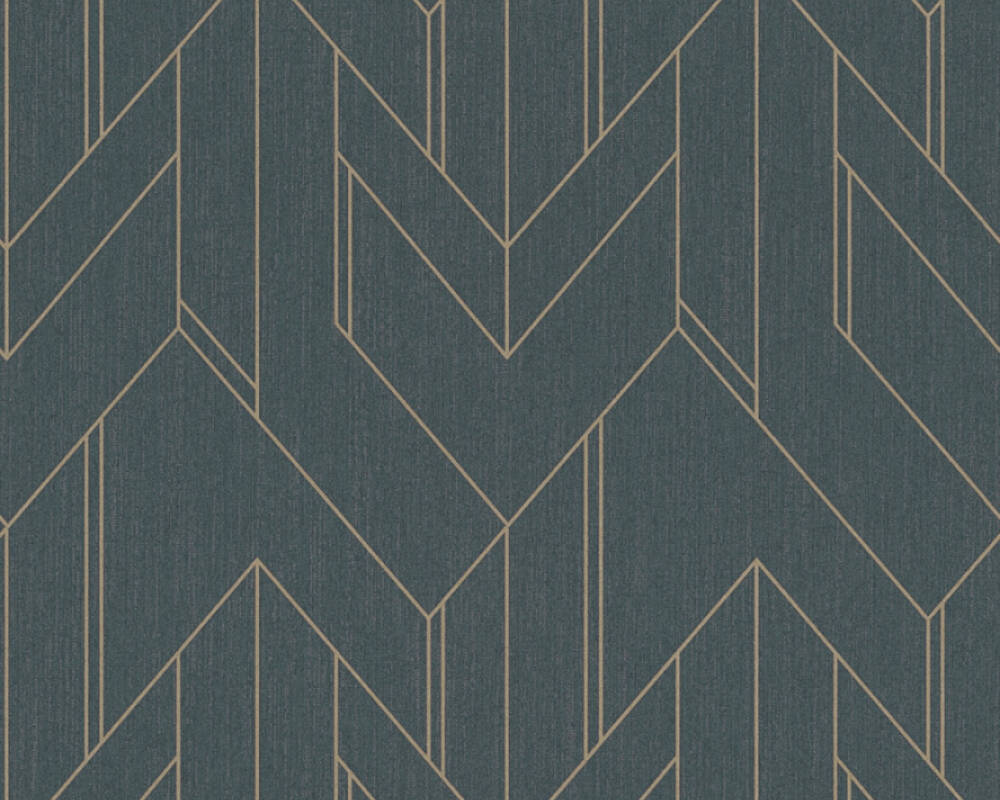 Architects Paper Tapete Grafik, Metallics, Schwarz 373691