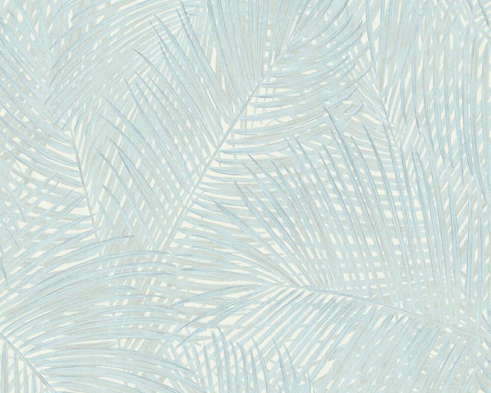 A.S. Création papier peint Floral, bleu, turquoise, vert 373714