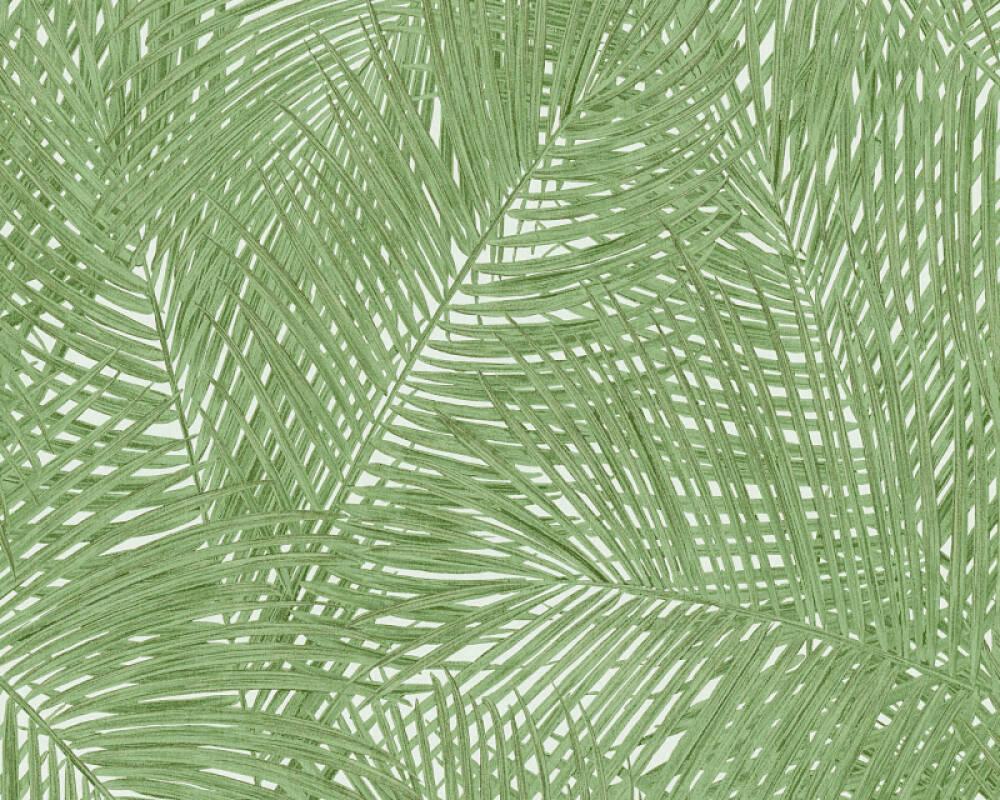 A.S. Création Tapete Floral, Grün, Weiß 373715