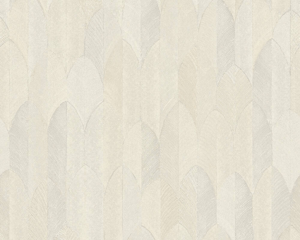 A.S. Création Wallpaper Graphics, Beige, Cream, Grey 373731