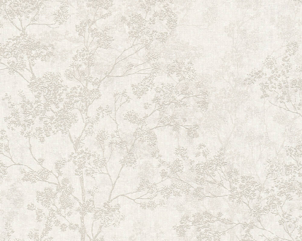 Livingwalls Wallpaper Floral Beige Cream Grey Taupe 373972