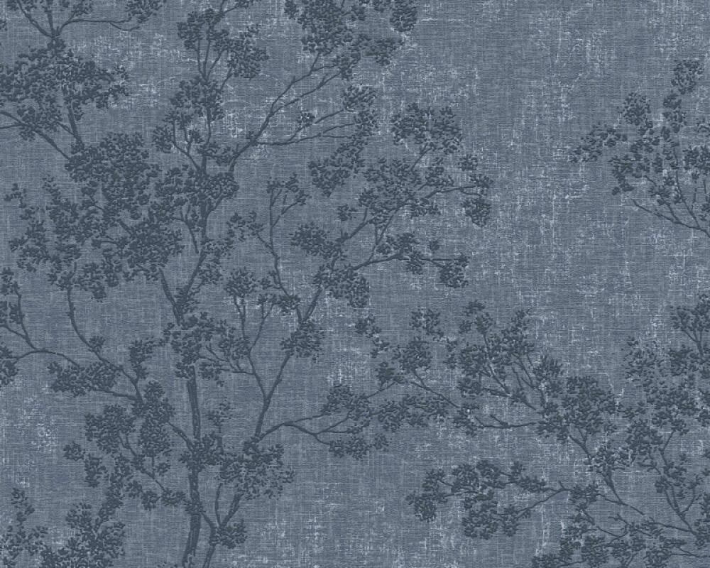 Livingwalls Tapete Floral, Blau 373974