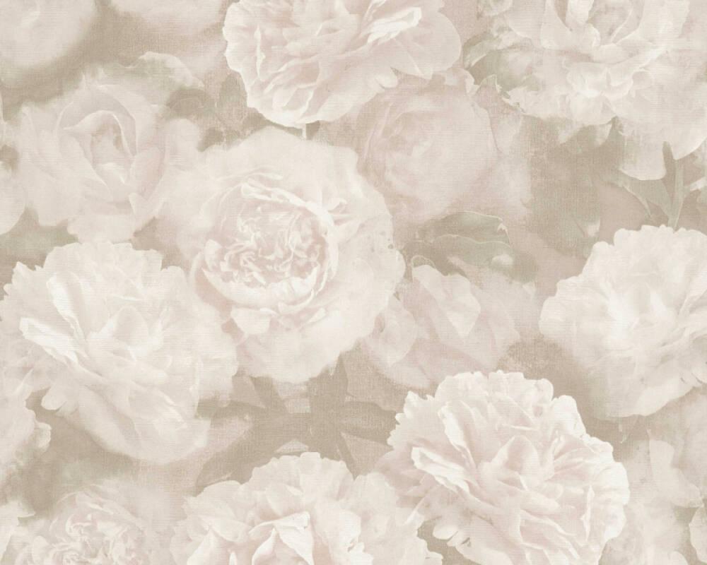 A.S. Création Tapete Blumen, Grau, Rosa, Weiß 374023
