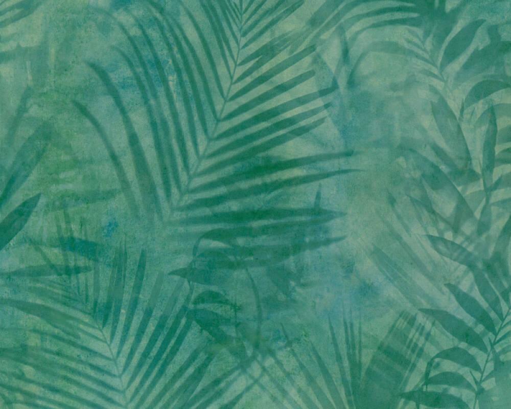 A.S. Création papier peint Jungle, bleu, jaune, vert 374112