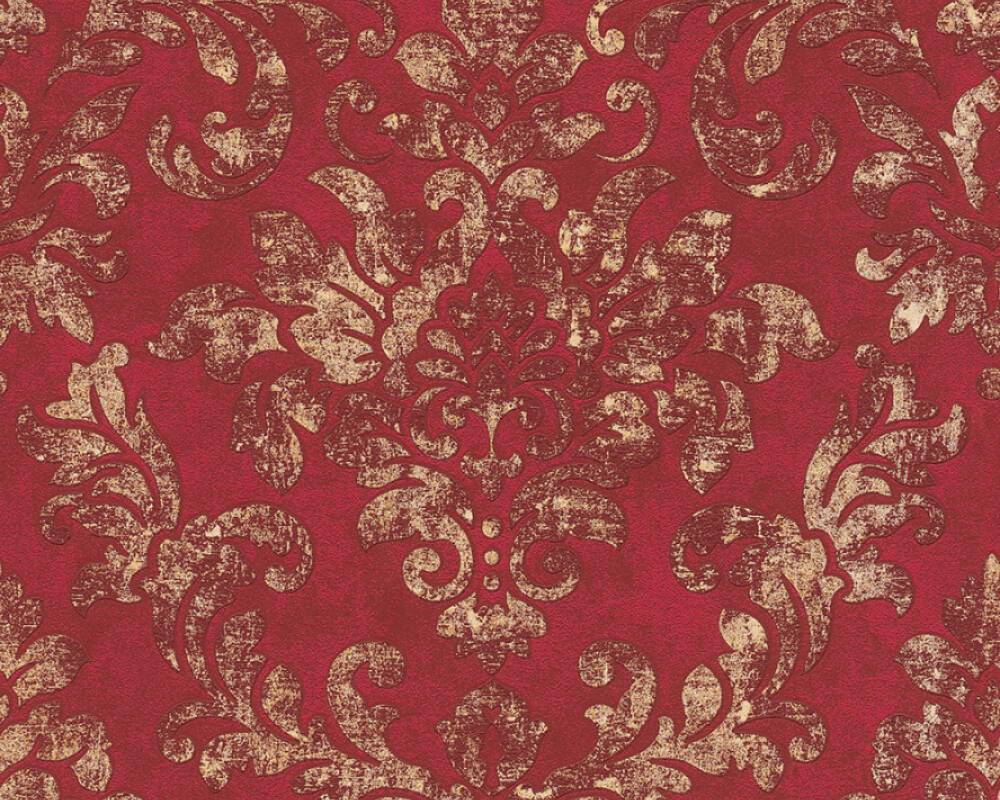 A.S. Création Tapete Barock, Gold, Metallics, Rot 374131