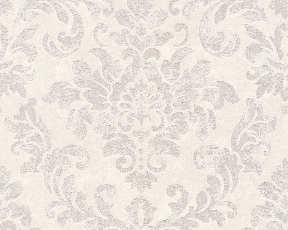 A.S. Création Wallpaper Baroque, Grey, Pink, White 374133