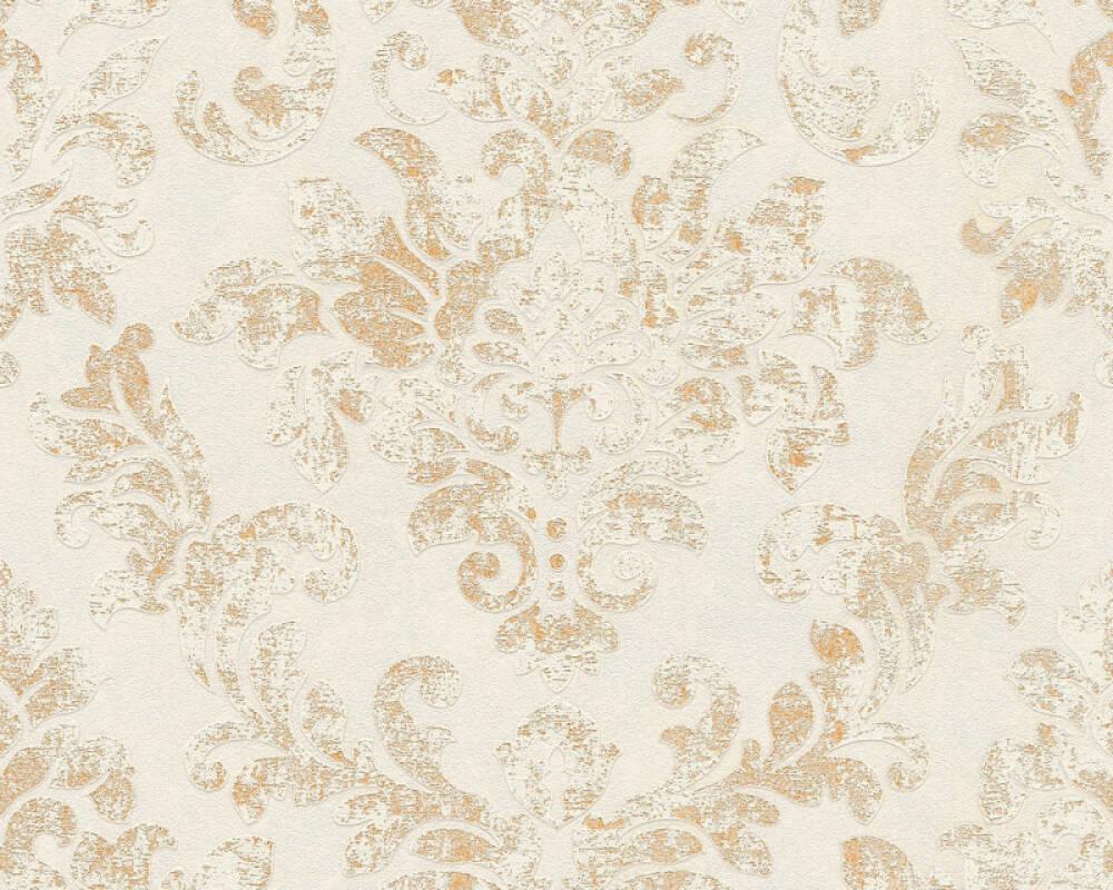 A.S. Création papier peint Baroque, beige, blanc, gris, marron 374135