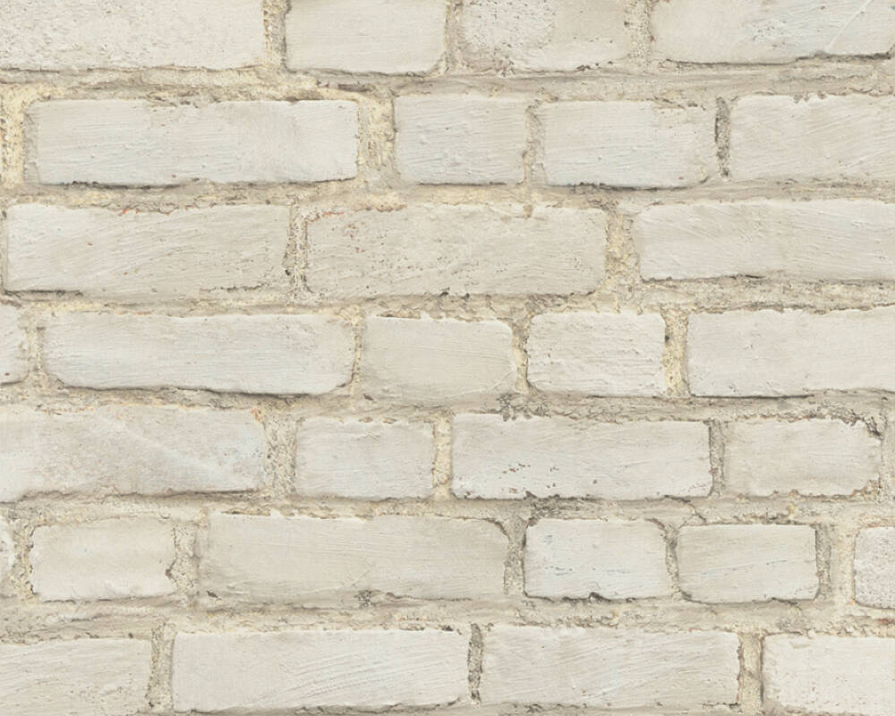 A.S. Création Wallpaper Stone, Grey, Red, White 374141