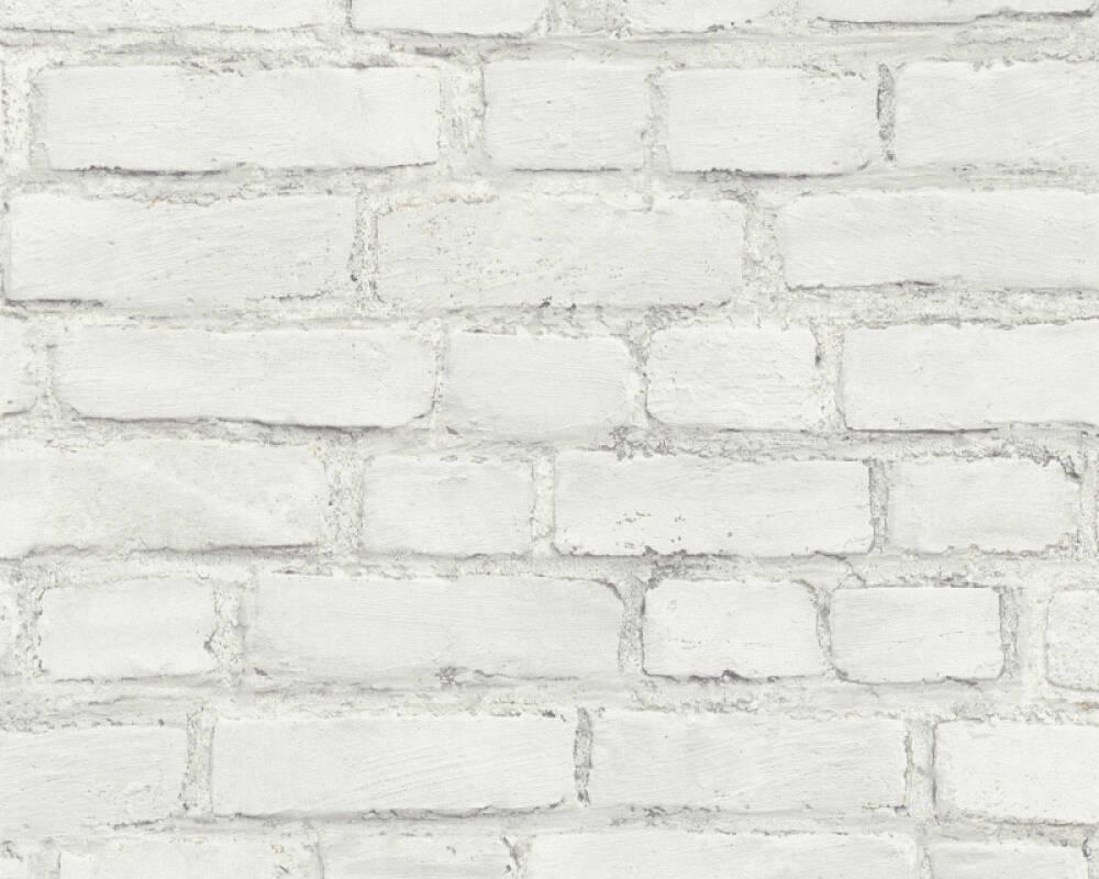 A.S. Création Обои Под камень, Белые, Серыe 374142