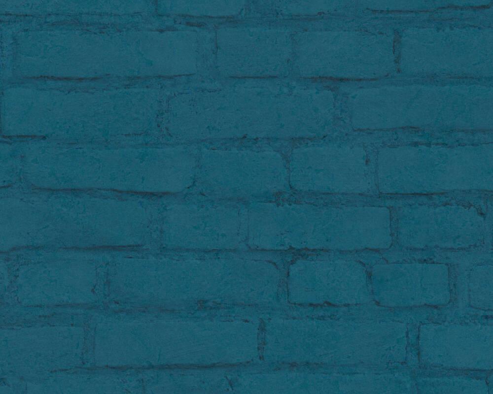 A.S. Création Обои Под камень, Бирюзовые, Зеленые, Синие, Черные 374144