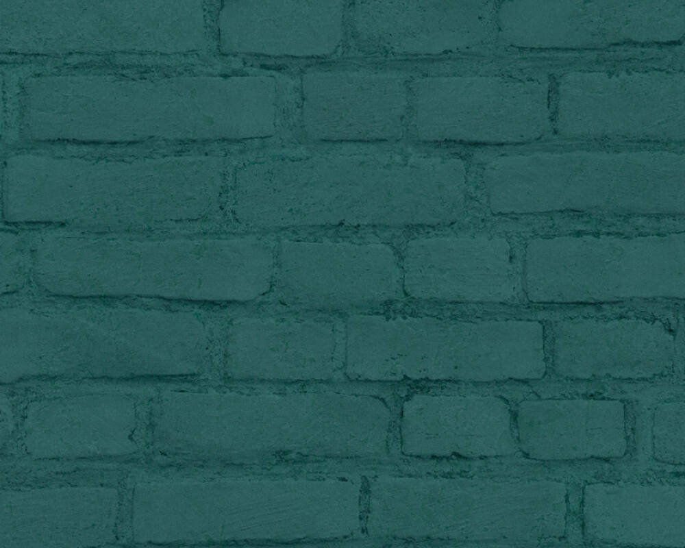 A.S. Création Wallpaper Stone, Black, Green 374145
