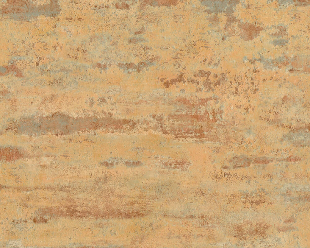 A.S. Création Tapete Uni, Blau, Grau, Orange 374151