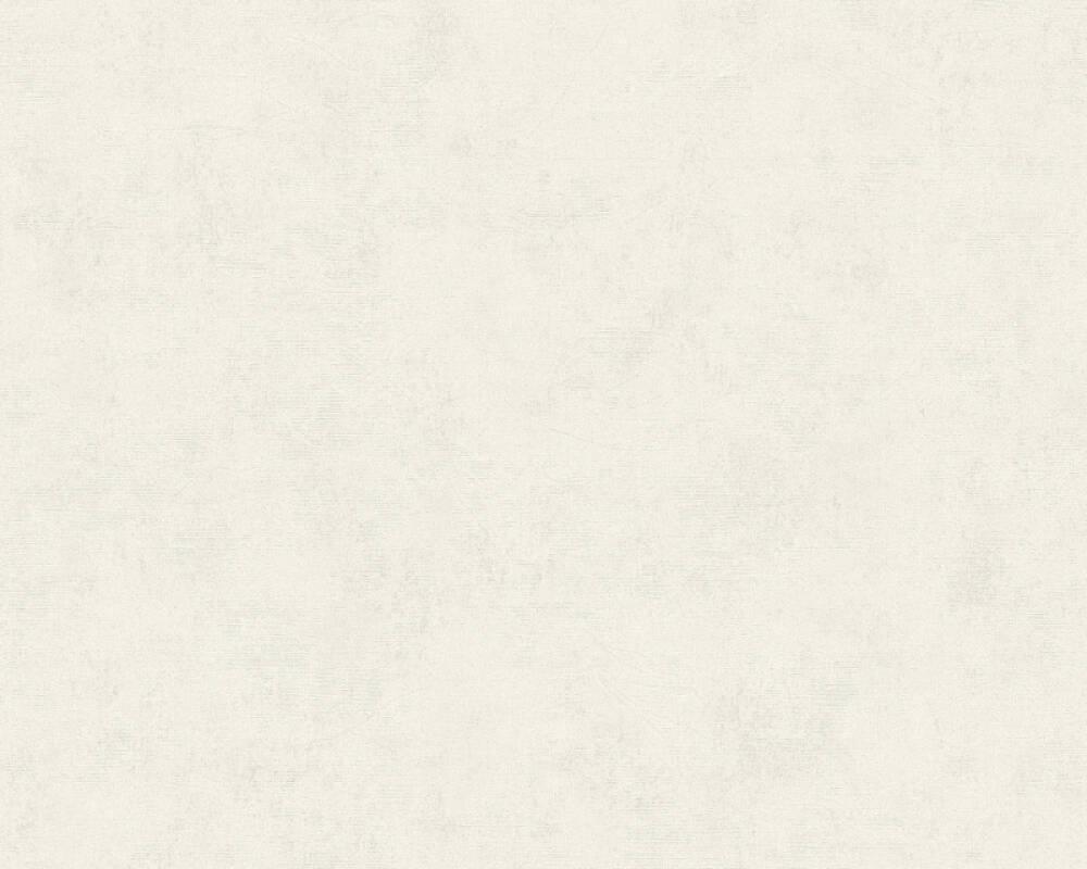 A.S. Création Tapete Uni, Creme, Weiß 374162