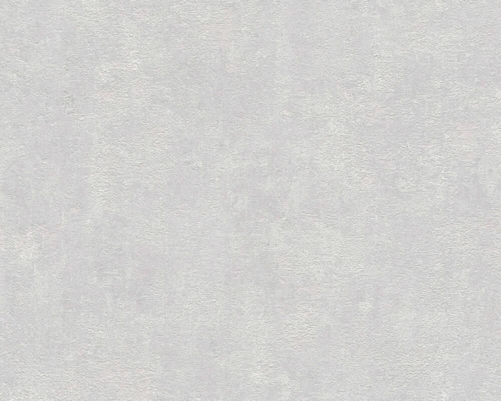 Livingwalls Tapete Uni, Grau, Weiß 374183