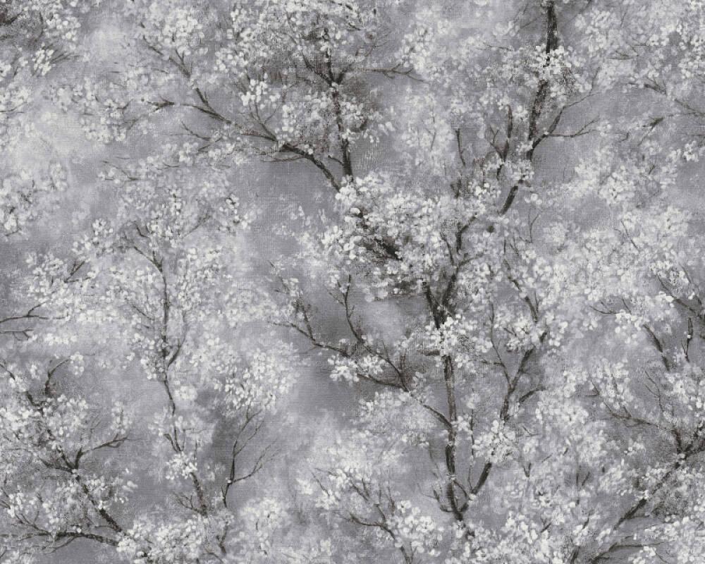 Livingwalls Обои Флора, Белые, Серыe, Черные 374201