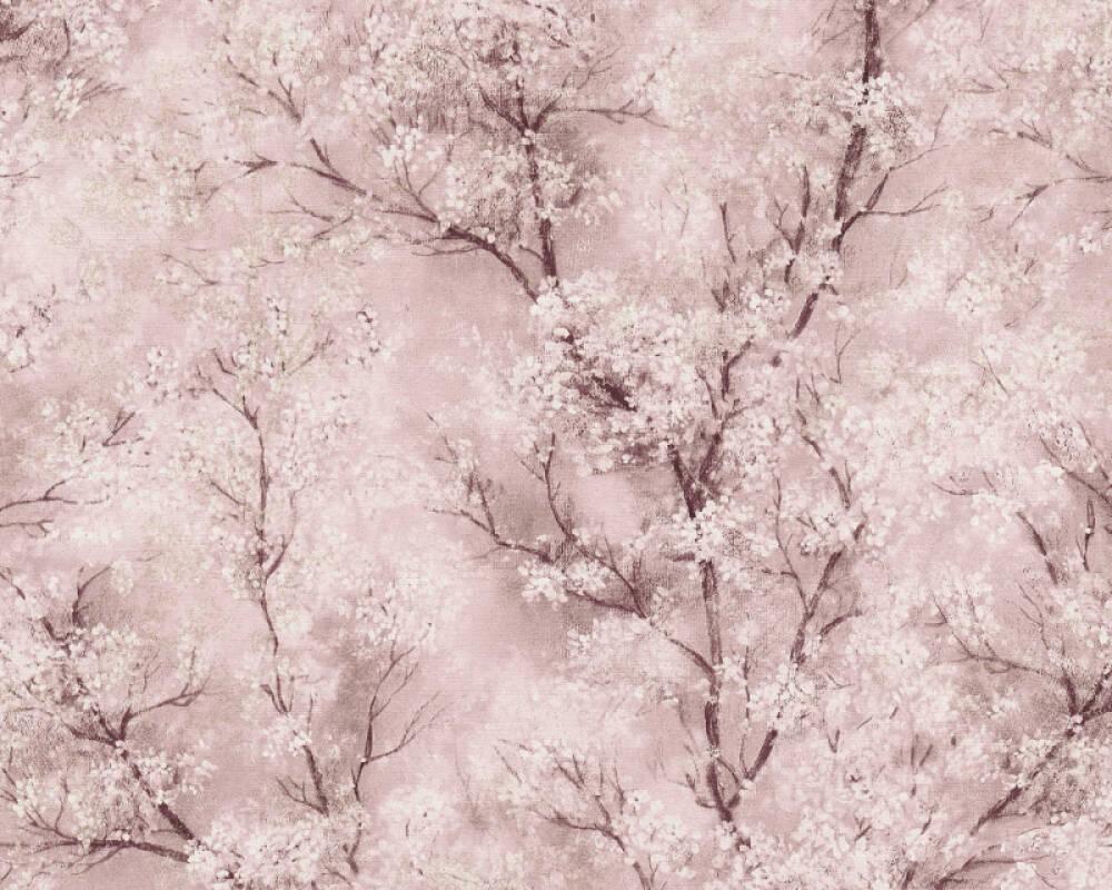 Livingwalls Tapete Floral, Braun, Creme, Gold, Grau 374204