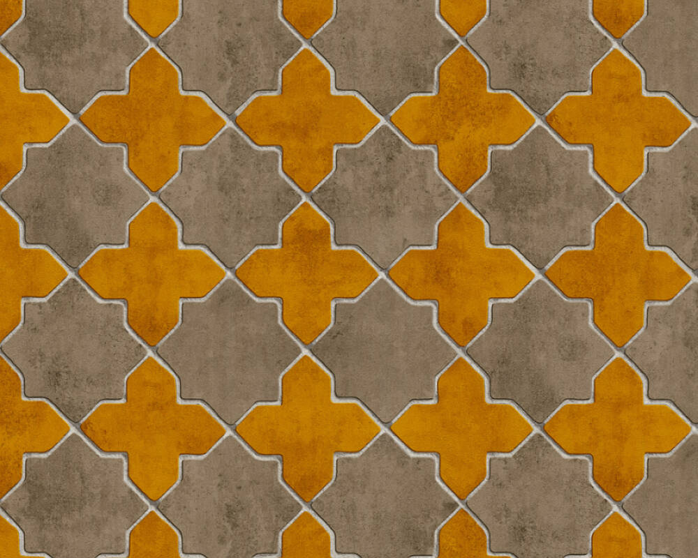 Livingwalls papier peint Tuile, beige, crème, jaune 374212