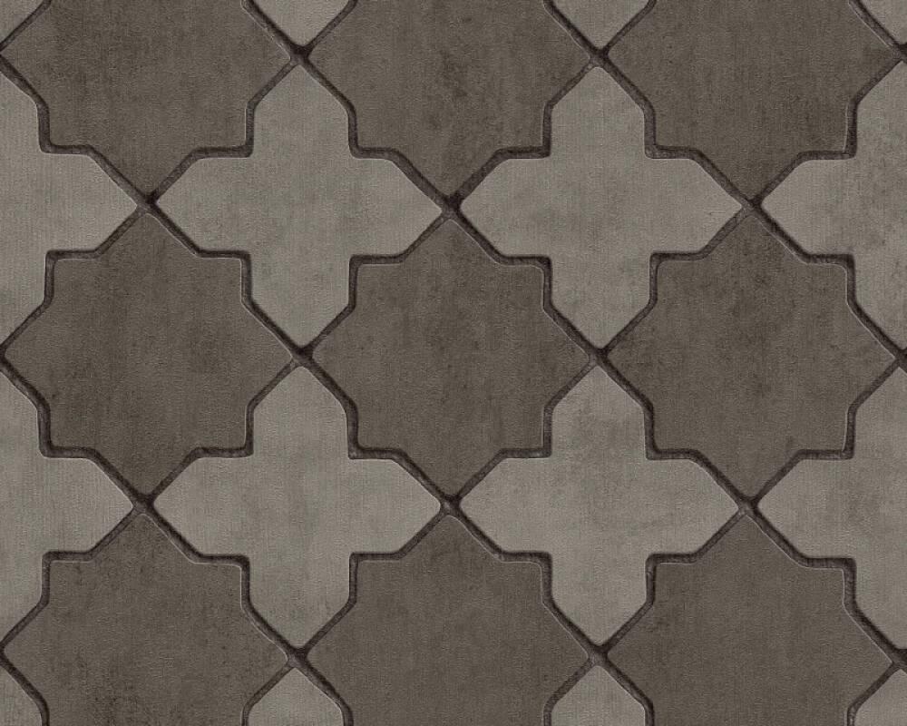Livingwalls papier peint Tuile, gris, noir 374213
