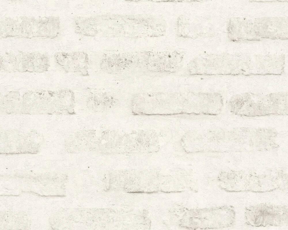 Livingwalls Tapete Stein, Grau, Weiß 374222