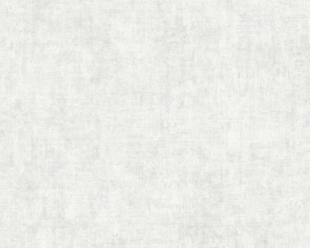 Livingwalls Tapete Uni, Grau, Weiß 374231