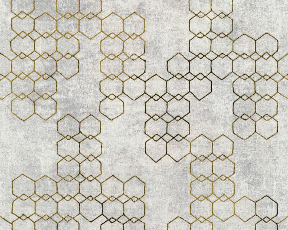 Livingwalls Tapete Grafik, Gold, Grau, Metallics, Silber 374244