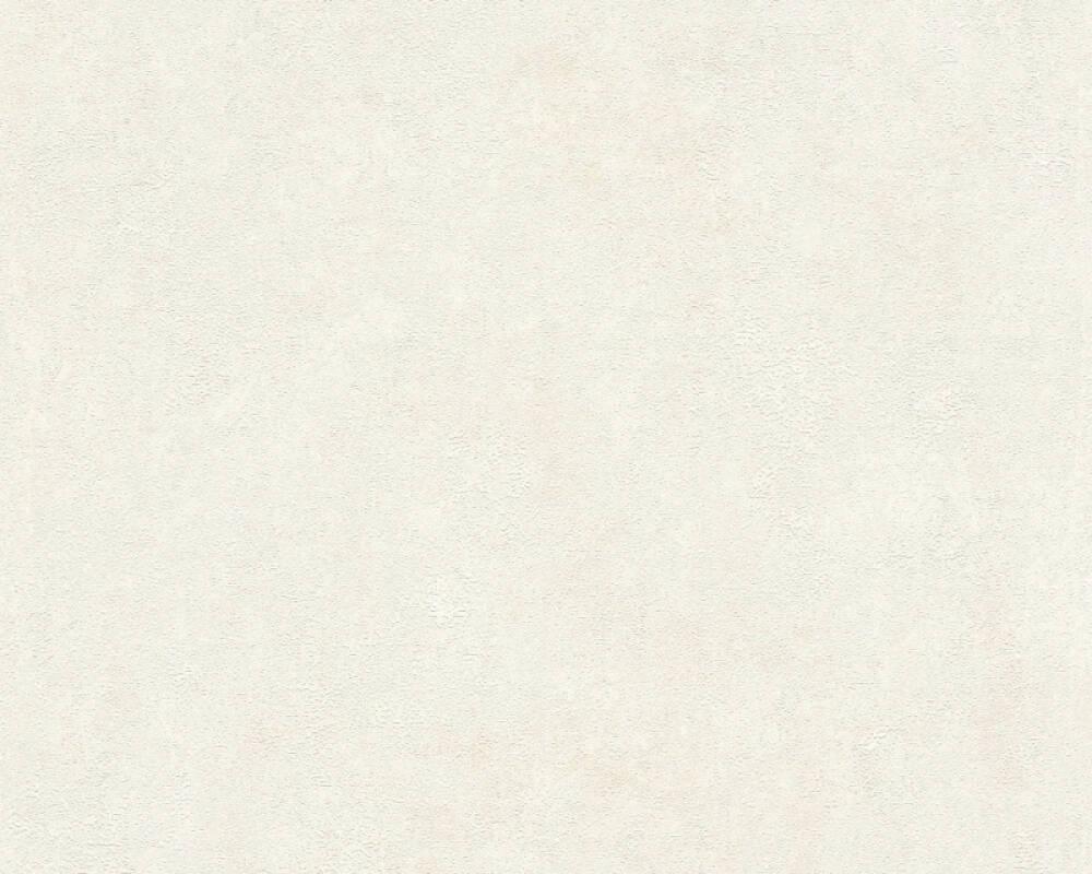 Livingwalls Tapete Uni, Creme, Weiß 374251