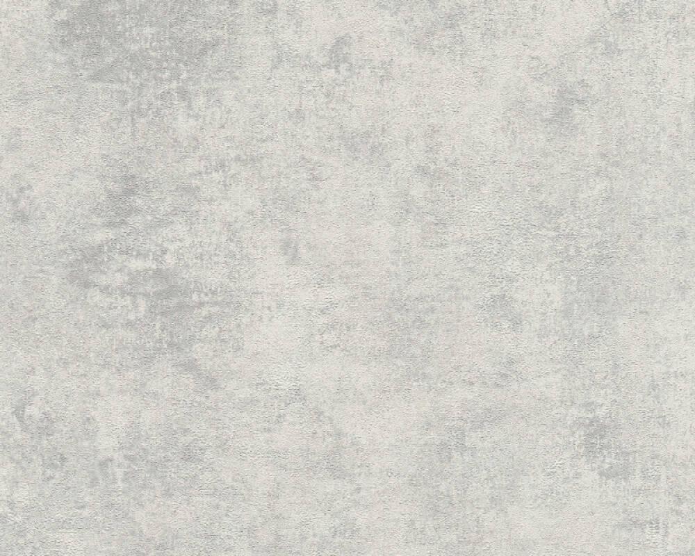 Livingwalls Tapete Uni, Grau, Metallics, Silber 374254