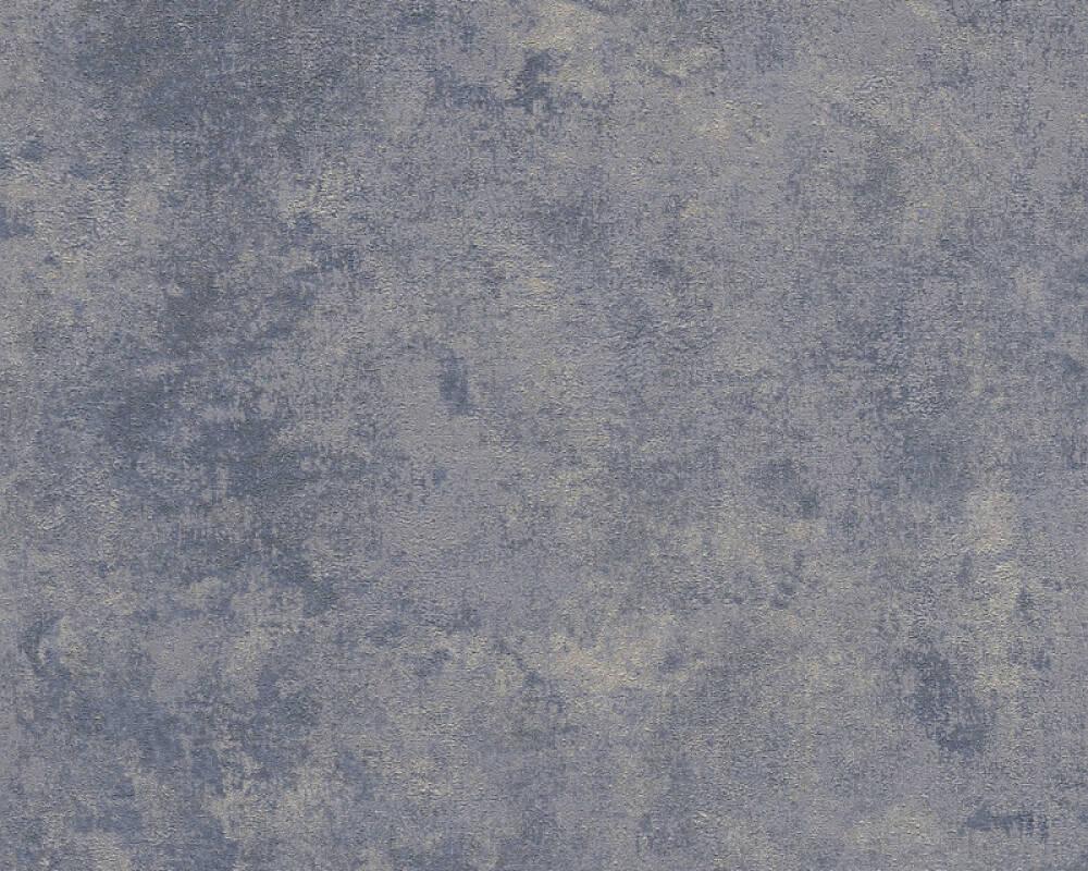 Livingwalls Tapete Uni, Blau, Gold, Grau, Metallics 374255