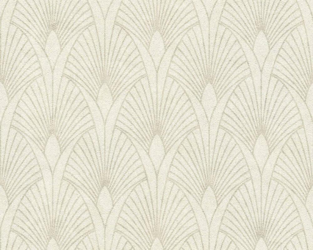 Livingwalls Wallpaper Baroque, Cream, Metallic, Silver, White 374271