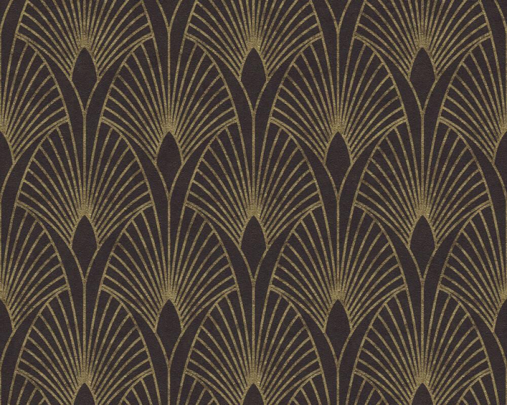 Livingwalls Wallpaper Baroque, Black, Gold, Metallic 374273