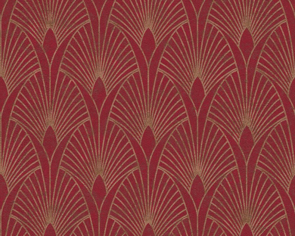 Livingwalls Wallpaper Baroque, Gold, Metallic, Red 374274