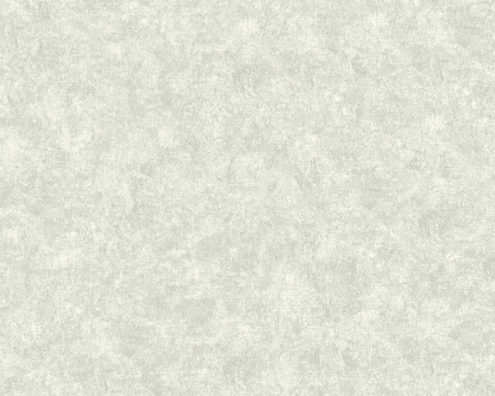 A.S. Création Tapete Uni, Metallics, Silber, Weiß 374282