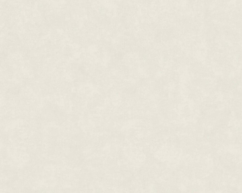 A.S. Création Tapete Uni, Grau, Weiß 374417
