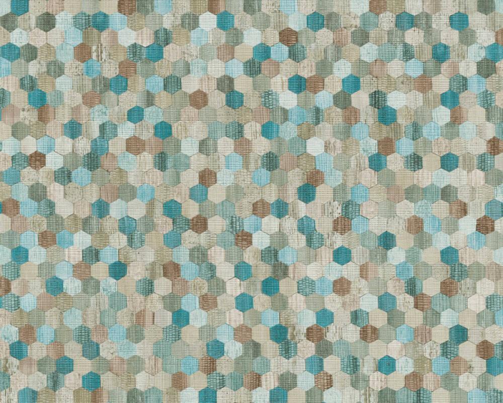 A S Creation Tapete Holz Beige Blau Braun Grau 374632