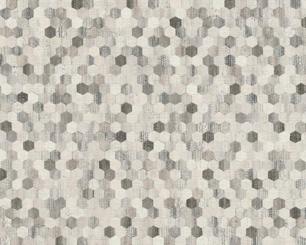 A.S. Création Tapete Holz, Beige, Creme, Grau, Schwarz 374633
