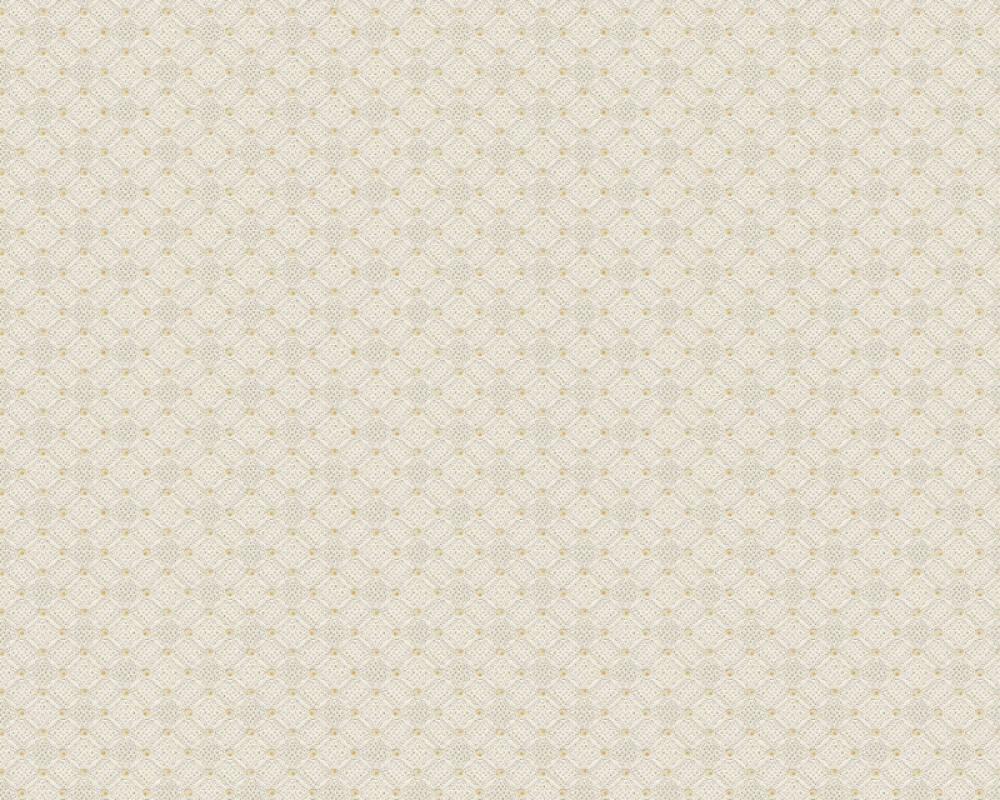 A.S. Création papier peint Graphique, beige, crème, jaune, or 374683