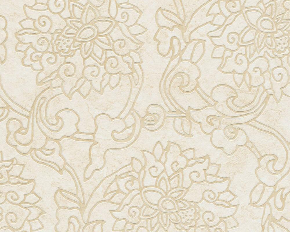 A.S. Création Tapete Floral, Beige, Creme, Metallics 374703