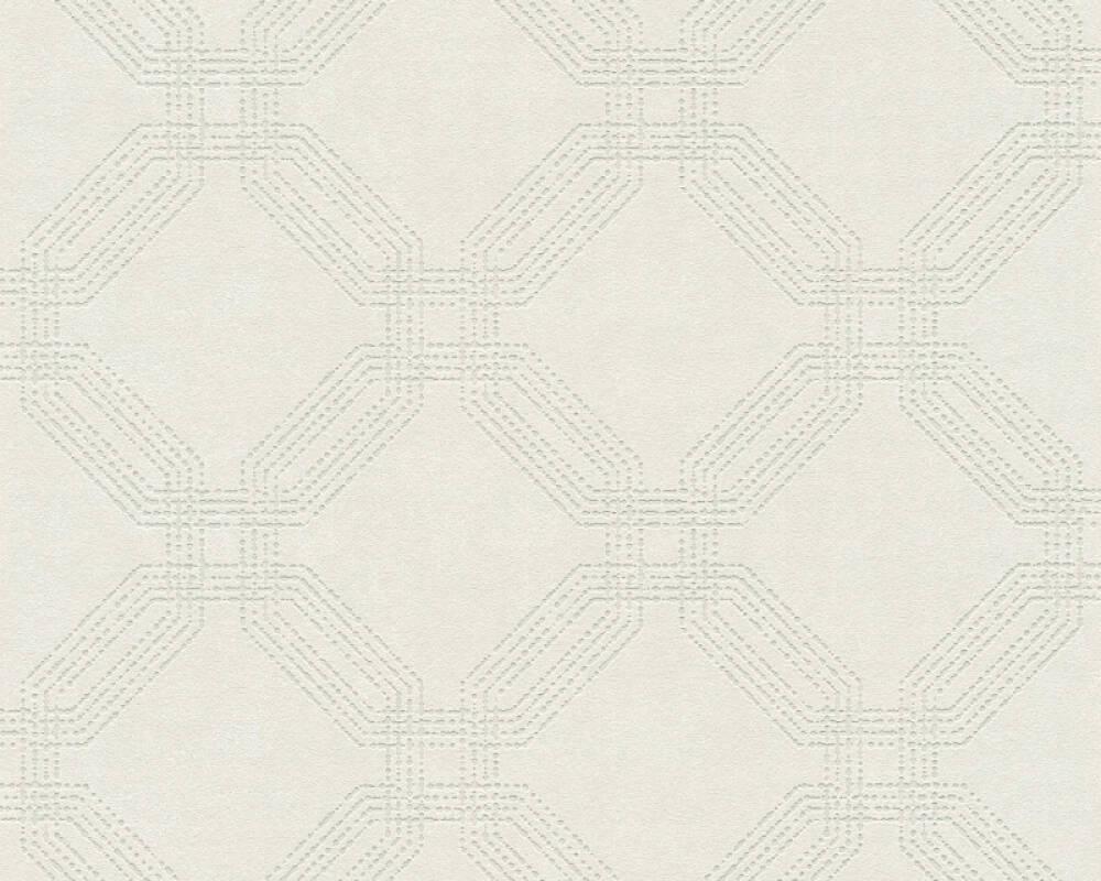 A.S. Création Tapete Grafik, Beige, Creme, Grau, Silber 374771