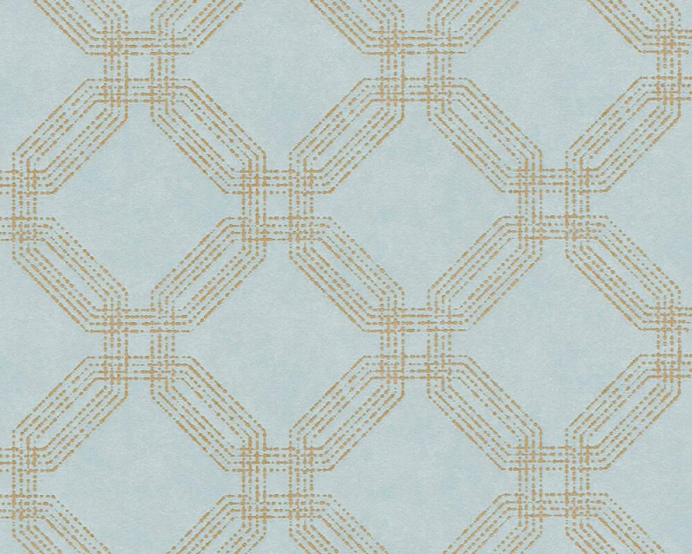 A.S. Création Tapete Grafik, Blau, Gold, Grün, Metallics 374772