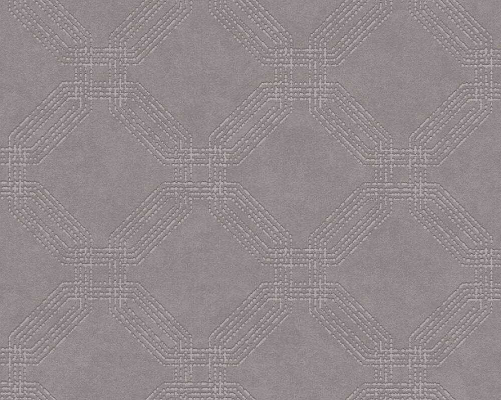 A.S. Création Tapete Grafik, Braun, Grau, Metallics, Silber 374774