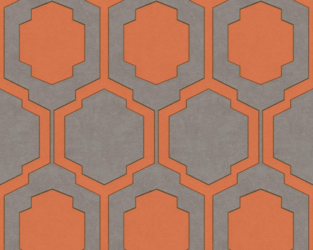 A.S. Création Wallpaper Graphics, Beige, Copper, Grey, Orange 374793